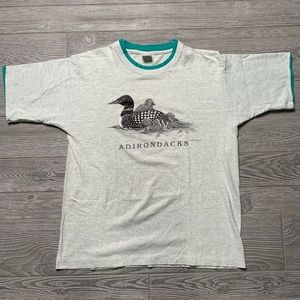 Vintage Adirondacks T-Shirt Size Large Gray
